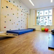 New climbing wall for children and adults' Occupational Therapy room