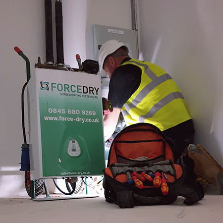 ForceDry surpass contractors RH targets in just two weeks