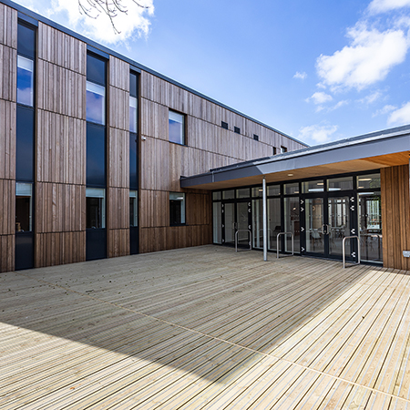 Anti-slip timber decking adds natural aesthetic to Stansfeld Park