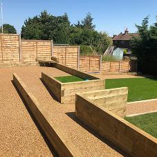 FP McCann fencing products donated to charity garden transformation