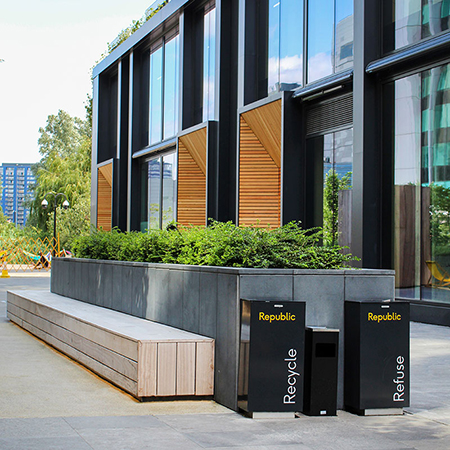 Aesthetically pleasing Spencer R Bins for East India Dock