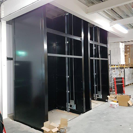Double high capacity goods lifts for Farboud Innovation Park