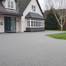 Ronacrete lay Silver Blue gravel for Essex home
