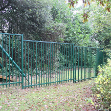 Jacksons vertical bar fencing protects Barnardo's special needs school