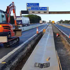 M62 kept safe with central reservation upgrades from Blue Phoenix