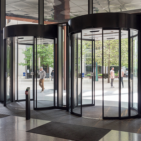 GEZE doors hit the right note at 4 Pancras Square