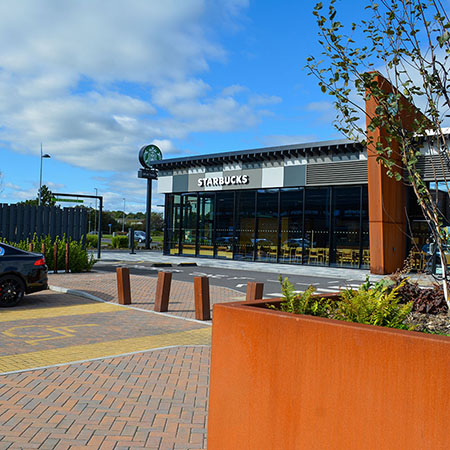 Bollards and Cycle Stands ensure safety at Tees Bay Retail park