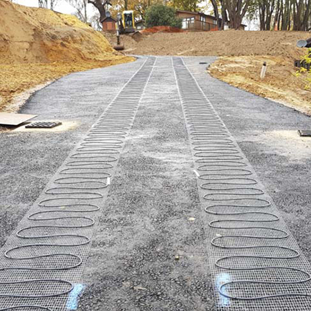 Ice and snow melting control bespoke heat mats at Priory Park