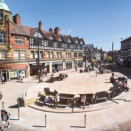 Willenhall Steel Seats encourages socialising at Market Place