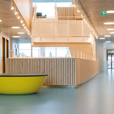 Modern material concept for a creative learning environment