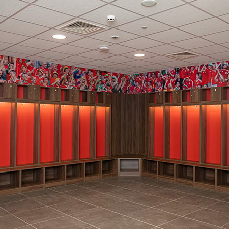 42 football lockers for The National Football Development Centre