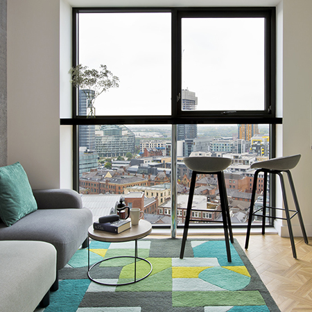 Stunning Amtico flooring throughout modern apartment hotels