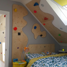Turn your child's headboard into their own climbing wall!