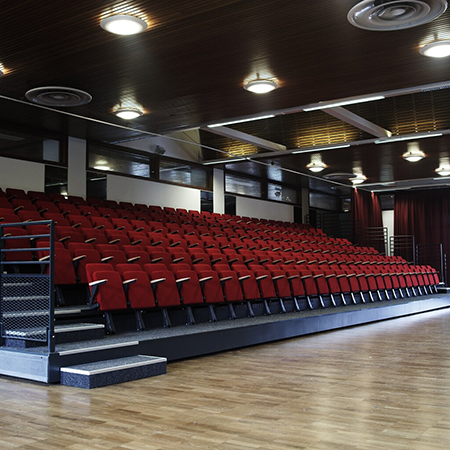 Retractable seating at the University of Birmingham