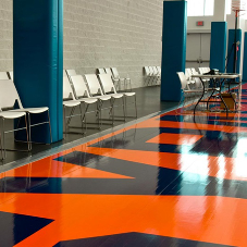 Hoop dreams at Syracuse University made possible with nora® Flooring