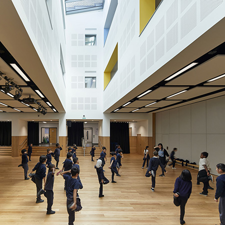 Solid Oak Flooring provides stunning interior for school
