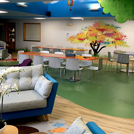 Amtico LVT create relaxing outdoor aesthetic for Children's Hospice