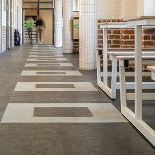 nora® rubber floor coverings enhance the character of Meridiaan College