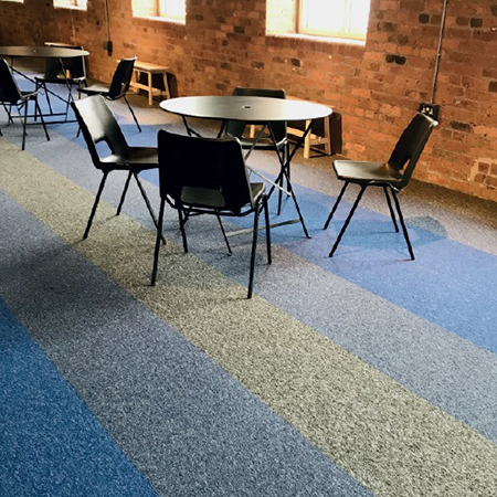 Jazz Solution Dyed Nylon Carpet Tiles are perfect for educational environments
