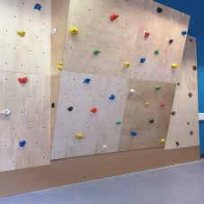 climbAwall make party activities easy in this new Richmond basement