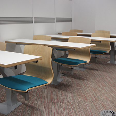 Turn and learn seating at Dudley College