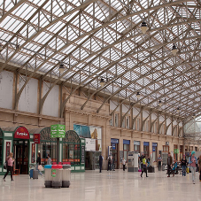Twinfix's canopy glazing floods Aberdeen Station with natural light