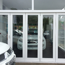 Kestrel Aluminium bi-folding doors in dual colours