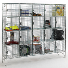 Compartment wire mesh lockers are in stock