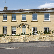 Mumford & Wood install sash windows to suit stone architecture