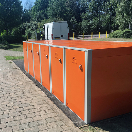 Velo-Box Lockers deter bike theft for park and ride sites