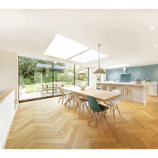 Fixed flat rooflight fills Hampshire extension with natural daylight