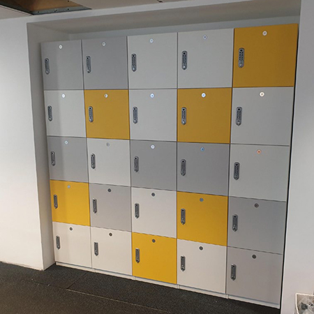 MFC Lockers provide storage facility for Gleeds in London