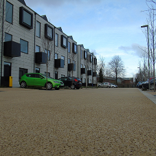 Brighter, longer lasting coloured asphalt for Irwell Riverside Housing Development