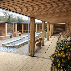 Twinfix install canopies for Cheltenham Crematorium's reflection gardens