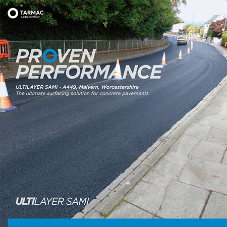 ULTILAYER SAMI technology gives Worcester Road long-term crack resistance