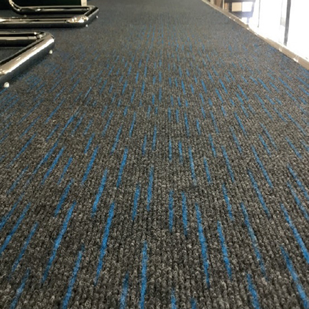 Durable Dash carpet tile for car showroom