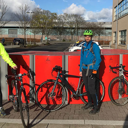 Velo-Safe Lockers prove popular for Hillington Park in Scotland