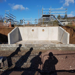 Bespoke headwall at Mauldslie WWTW