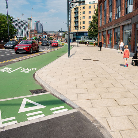 Aggregate Industries backs Manchester cycle network