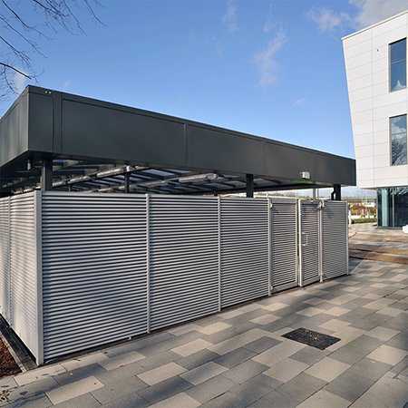 Bespoke wheelie bin store and cycle compound for bet365 HQ