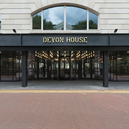 Smoke and fire rated internal timber doors for Devon House, London