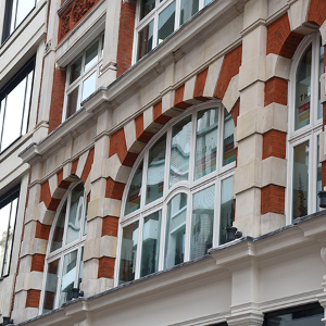 New fixed casement windows for Rathbone Place in Fitzrovia