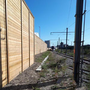 Jacksons Acoustic Fencing provides noise mitigation for train depot