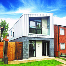 Birmingham's first modular home receives its windows and doors from Kestrel