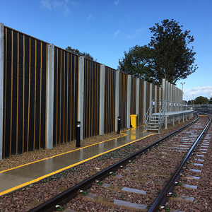 Reducing noise pollution at new train servicing depot