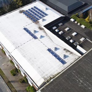 IKO provide an internal cooling roofing solution for Coolock Library