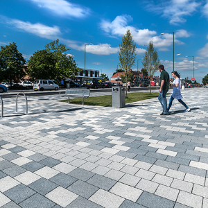 Tobermore provide block paving for Hurst Lane Place Regeneration