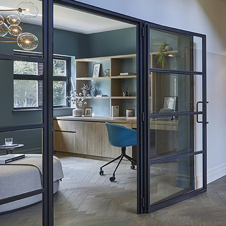 Clement steel and glass partitions for luxurious home
