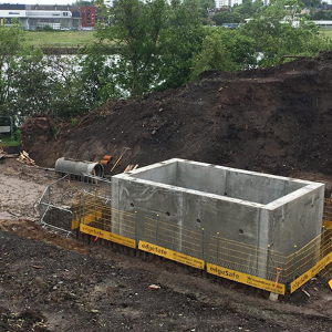 FP McCann CSO panel tank installed on Scottish Water wastewater scheme