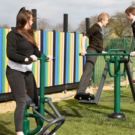 Brand new outdoor gym at Highfield Ely Academy